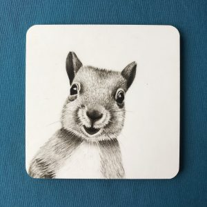 Cheeky Squirrel Coaster