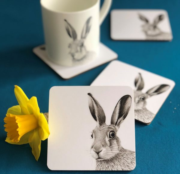 Hare Coaster Blue