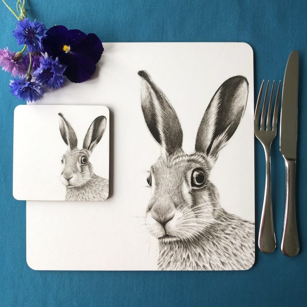 Hare Placemat and Coaster