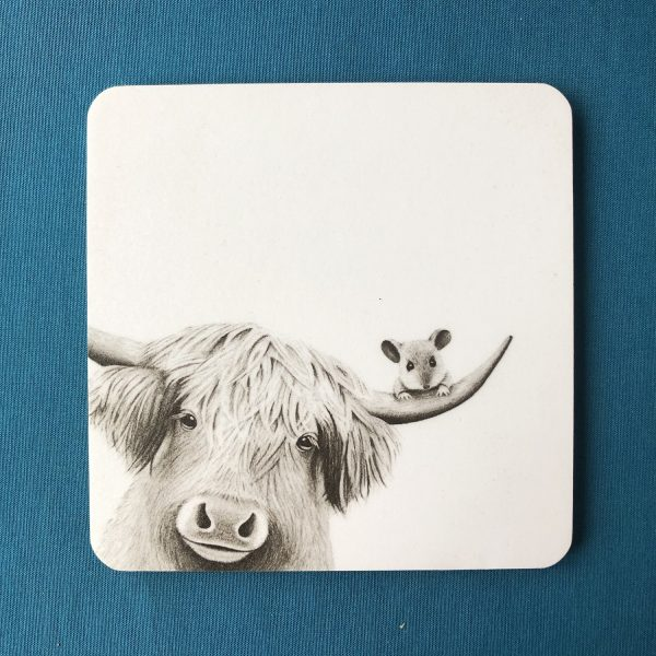 Moo and Mouse Coaster