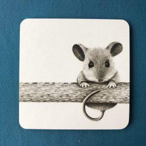 Mouse on a log Coaster