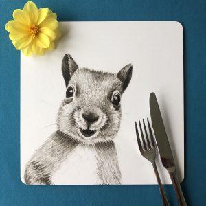 Squirrel Square Placemat
