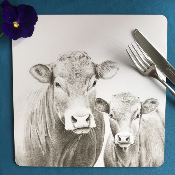 Cow and Calf Square Placemat