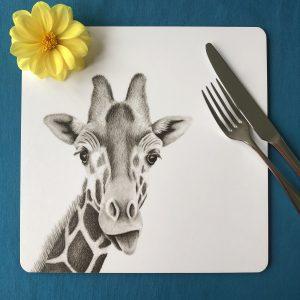 Giraffe Square Placemat