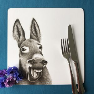 Laughing Donkey Square Placemat