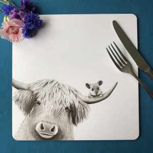 Moo and Mouse Square Placemat