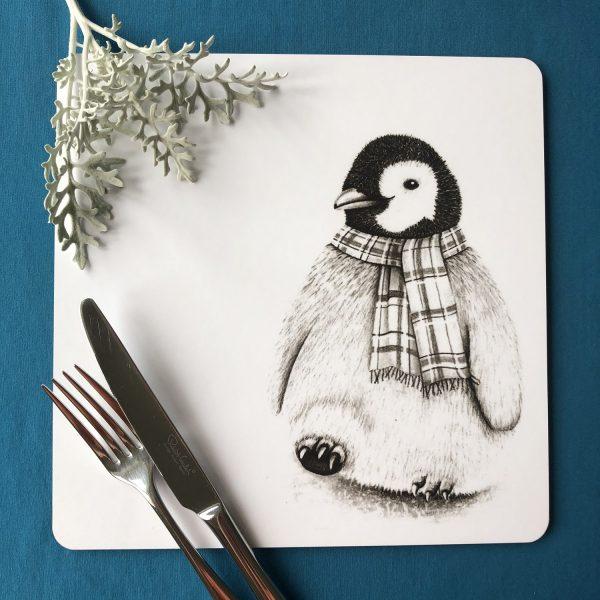 Penguin Square Placemat