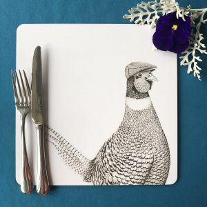Pheasant Square Placemat