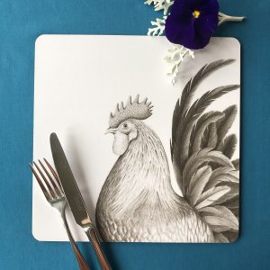Rooster Square Placemat