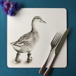 Runaway Duck Square Placemat
