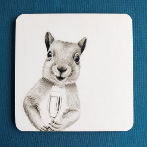 Merry Squirrel Coaster
