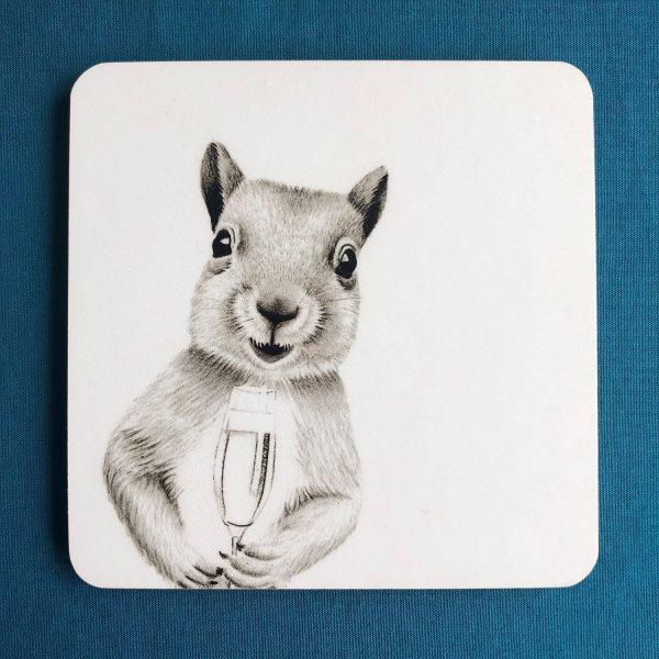 Merry Squirrel Coaster