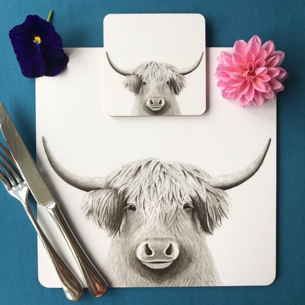 Bessie Placemat and Coaster