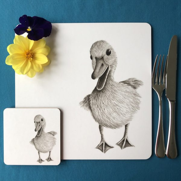 Duckling Placemat and Coaster