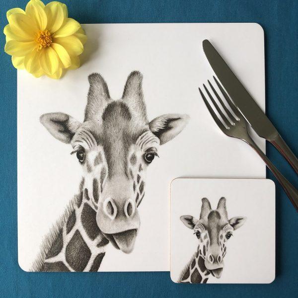 Giraffe Placemat Coaster
