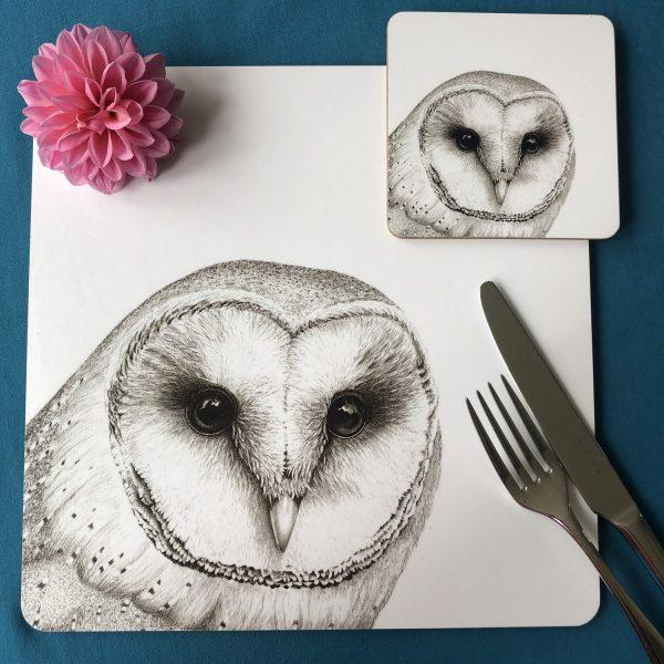 Owl Placemat & Coaster