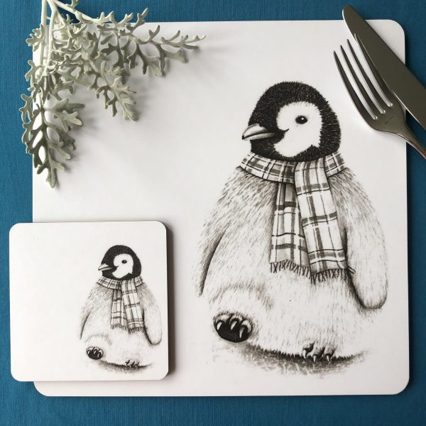 Penguin Placemat and Coaster