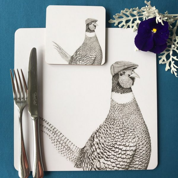Pheasant Placemat and Coaster
